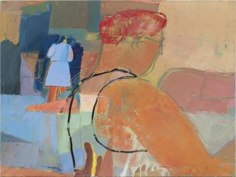 《Seated Woman》 60x80cm 布面油画 2016