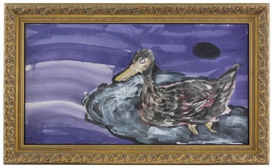 《滩头野鸭子》 97×180cm 纸本设色 2016