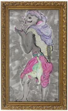 《刘海与金蟾》 180×97cm 纸本设色 2016