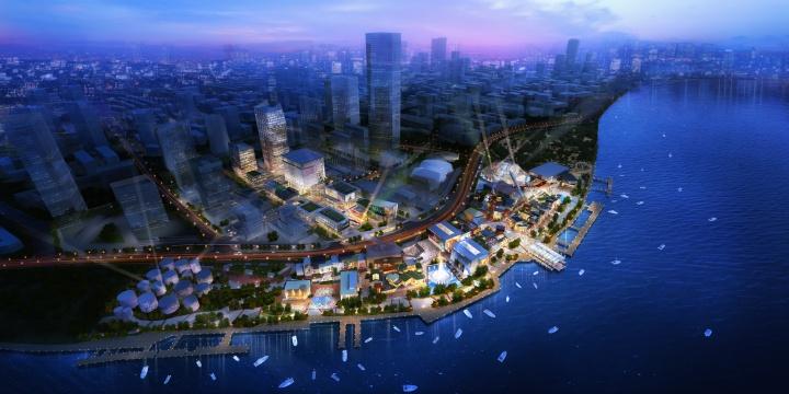 上海梦中心规划示意图