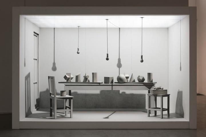 《两居室 No.2》 366x264x200cm 绘画装置 2007-2009