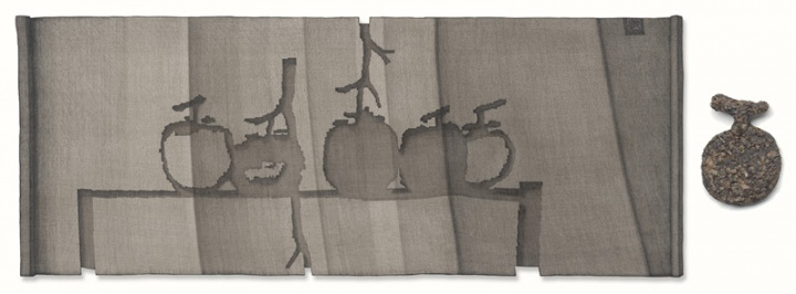 《五柿图》 113x45,19x13cm,现成品绘画 姜吉安 2015