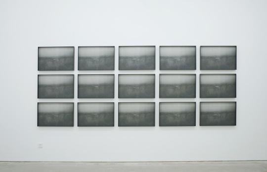 李昶 《池》系列 48×72.3cm×24 丝网版画,4种黑色粉末套色,综合材料手绘 2016