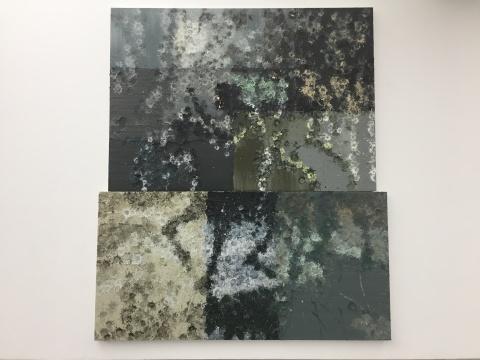 《露娜指引我们战斗》 370×320cm 木板油画 2016
