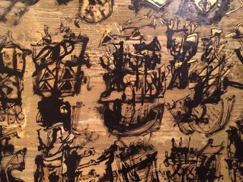 《万物察-秋》中隐约可见具象图形的抽象表达