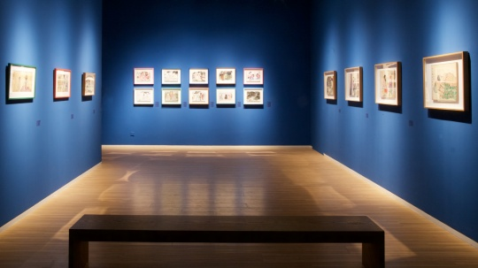 展览集结了他2016年在日本旅居创作的数十件新作