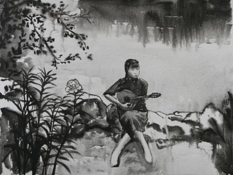 """邱黯雄 《民国风景》14'27""""黑白动画片 2007"""