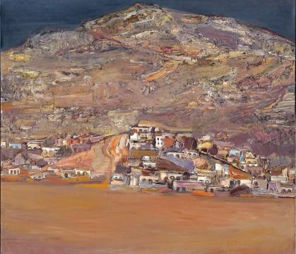 王克举 《峰转吕梁-寨侧山》120×140cm 布面油画 2009