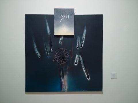 《前世幻网》(二联)之一 120×120cm 布面油画