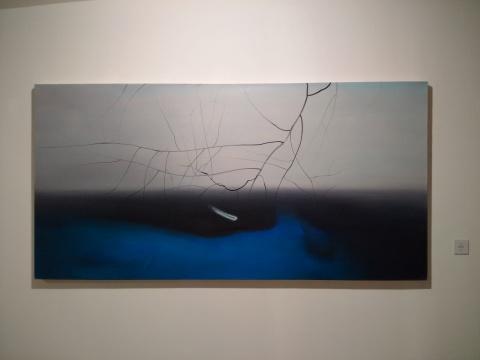 《向克莱因致敬》120×240cm 布面油画 2015
