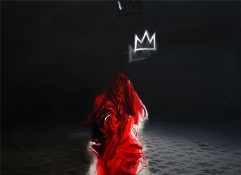《玫瑰之妖与Basquiat之冠》 200×250cm 布面油画