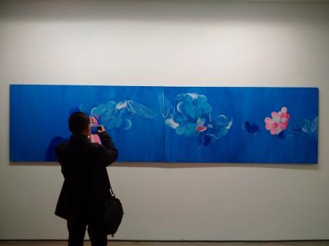 《时间煮雨3:两种死亡之间》 100×400cm(2联) 布面油画 2016