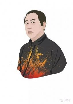 郑林(当代唐人艺术中心负责人)    推荐作品二:方力钧 《系列一之五》——美术馆级别的、代表中国历史文献的收藏