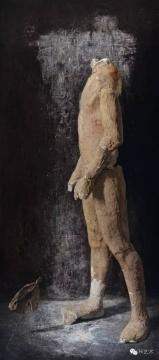 Lot 3777 石冲 《行走的人之二》 180×80cm 布面油画 1994  估价:1200万-1800万元    林松:石冲直接将观念、装置列入了绘画,并以写实手法呈现。《行走的人》系列除了绘画技巧和观念的突破,和时代气息也有重大关联。这件《行走的人之二》以侧面的形象呈现,表达细致入微。《行走的人》刚在嘉德拍卖由于估价过高流标,这件《行走的人之二》估价更为合理,美术馆级别的藏家是值得关注的。    推荐作品十二:王兴伟 《进化的步伐》——四张一组、而且一组都这么好就更难得
