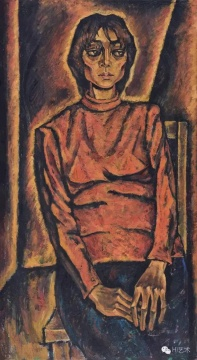 Lot 3746 顾德新 《A03》 141×77.5cm 布面油画 1982  估价:40万-60万元    郑林:顾德新是80-90年代中不可忽略的艺术家,好几年前他就宣布了退出艺术圈,不再创作什么作品或参加什么展览了,但是顾德新代表了当代艺术的前卫性。这件人物从构图到结构的处理都很端庄,肖像的概念很强,但不是传统的学院派的做法。顾德新早年的绘画一直摆脱了学院派的风格,用结构和线条来处理作品,这幅作品能很好地看出他的功底。这几年的拍卖市场上,我也有买他早期的作品,价格也挺便宜的。此次上拍的两件顾德新的作品都是精品,能进入保利夜场,说明了拍卖公司对学术的重视。而且这件作品价格非常便宜,按理来说,这个估价是根本拿不下的。    推荐作品二十二:王度 《无题》——一幅这么好的油画,只有他装置作品十分之一的价格,让人感到很惊讶