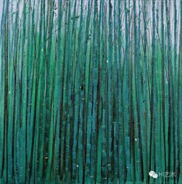 吴冠中 《竹海》 75×75cm 布面油画 1985  成交价:4370万元,由838号牌竞得