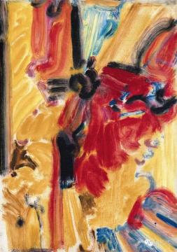 吴大羽 《无题113》 52.2×37.2cm 布面油画 1980  成交价:770.5万元    全场估价最高的靳尚谊的《登上慕士塔格峰》(2500万-4500万),以2100万元起拍,最终2500万元落槌、2875万元成交;石冲《行走的人之二》亮相夜场也是一大看点:石冲的《行走的人》刚刚在中国嘉德因估价过高流标(估价为2500万-3500万元),此次《行走的人之二》的估价在1200万-1800万元则显得更为谨慎合理,最终还是在1300万元时无人应价而流拍。