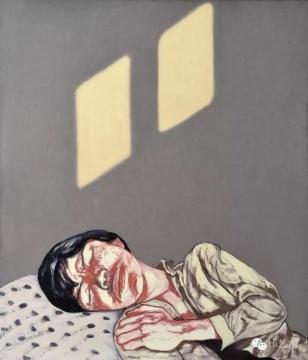 曾梵志《面具》 100×85cm 布面油画 1996  成交价:460万元,由唐炬竞得