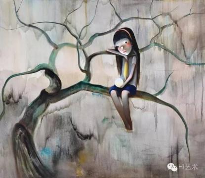 陈可 《夜明珠》 130×150cm 布面油画 2007  成交价:94.3万元