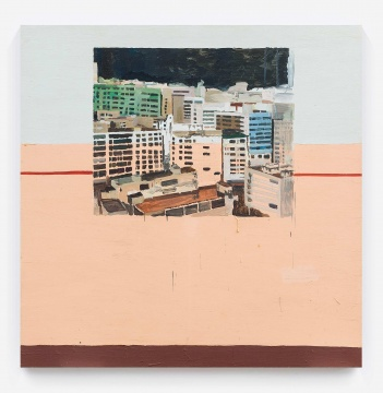 仇晓飞《塔楼》 200×200cm 布面油画 2010  成交价:86.25万元