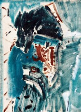 吴大羽 《韵谱-57》 53×38.6cm 布面油画 1980  成交价:1023.5万元