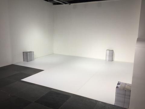 高倩彤此次展出了一系列综合材料、装置及多媒体作品: 《白色石头》、《摩登家具系列》 、《稳定的地面》、《以旧方式站立》