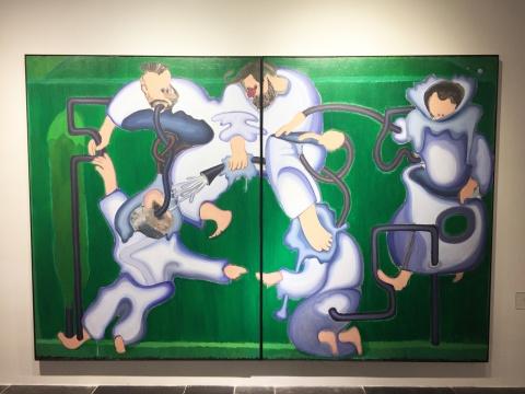 武晨 《五个大写T的肖像》 200×300cm 布面丙烯 2014