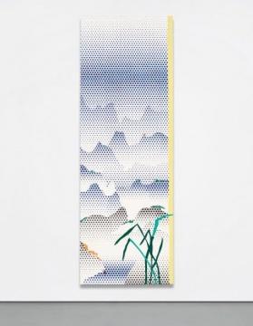 罗伊·李奇登斯坦 《中式山水系列:山水与草》 279.9×96.9cm 油画、亚克力树脂颜料、画布 1996   成交价:3548万港币