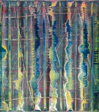 格哈德·里希特 《抽象画776-1号》 92×82.1cm 油画画布 1992  成交价:1988万港元(刷新艺术家亚洲拍卖纪录)