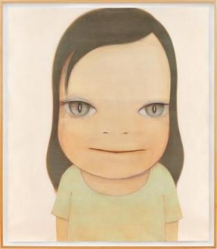 奈良美智 《白日梦》 156.5×136.5cm 蜡笔、亚克力、彩色铅笔、纸本 2003  成交价:1208万港元(刷新艺术家纸本作品拍卖纪录)      嘉德香港