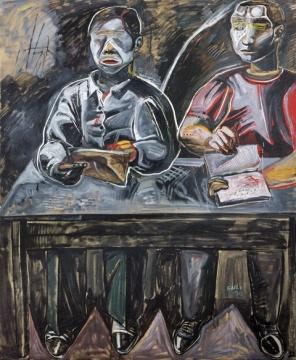张恩利 《无解》 170×140cm 油彩画布 1996  成交价:306.8万港元