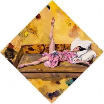 刘小东 《还是粉凤凰》 283×283cm 布面油画 2011  成交价:448.4万港元
