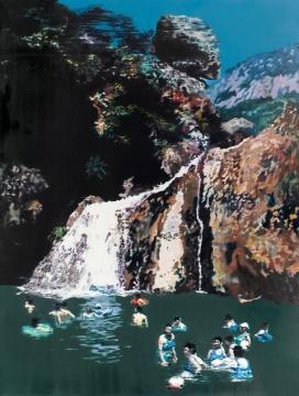 袁远 《峡谷》 160×120cm 油彩画布 2008  成交价:41.3万港元