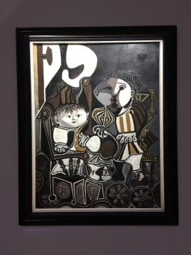 巴勃罗·毕加索 《克劳德与帕洛玛》 116×89 cm 油彩画布 1950  万达集团收藏