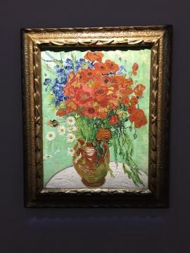 文森特・梵高 《雏菊与罂粟花》 66×51cm 油彩画布 1890  华谊兄弟董事长王中军藏品