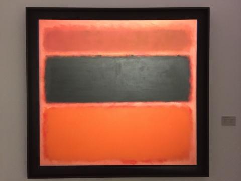 罗斯科 《第36号(黑条)》 157.1×170.1cm 油彩画布 1958  龙美术馆藏品