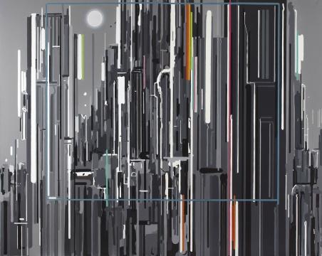 佳士得夜场:刘韡 《紫气东来三:第二号》 301.6×190cm 油彩画布(双联作) 2006  成交价:366万港元