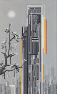 富艺斯:刘韡 《紫气6号》 249.8×149.9cm 油画画布 2006成交价:200万港元