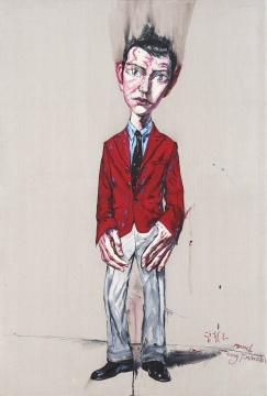 佳士得夜场:曾梵志 《肖像》 220×150cm 油彩画布 2006  成交价:666万港元