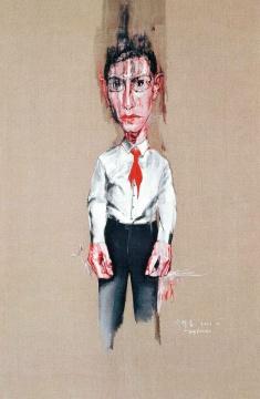匡时香港:曾梵志 《无题MO.11》 218×146cm 布面油画 2001流标