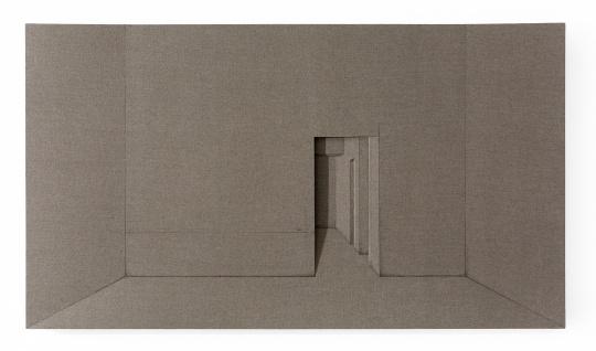 蔡磊 《给我一个空—之间》248×140×8cm 画布 2016