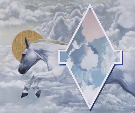 陈卓 《惊马奔腾》190x150cm 布面油画 2016