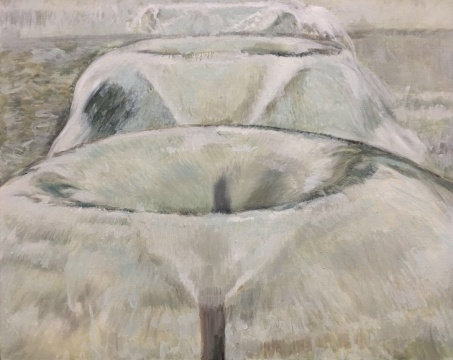 丁辉 《喷泉》83x100cm 布面油画 2015
