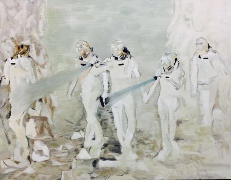 丁辉 《寻找》110x140cm 布面油画 2015