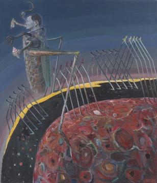 孔千 《天再旦》175×150cm 布面油画 2005