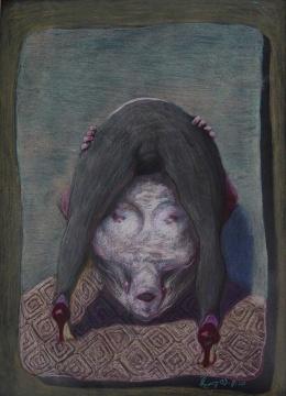 夏小万 《无题》78x110cm 纸上色粉 2003