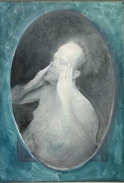 毛焰 《Thomas 2015》(未完成)36x27.5cm、130x90cm 布面油画 2015