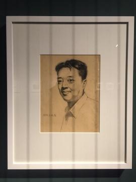 《自画像》 32×24cm 素描 1953