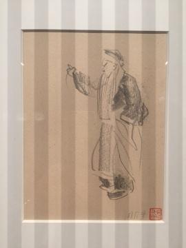 《周信芳》17.3×15.7cm 速写 1950年代