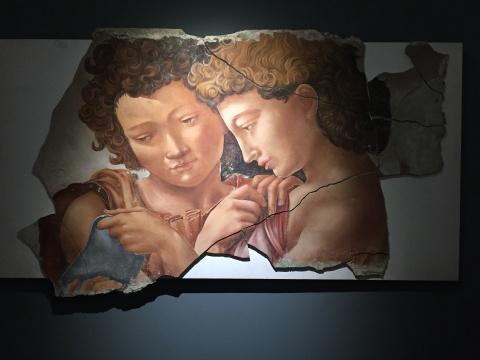 《曼彻斯特圣母》局部 湿壁画临摹